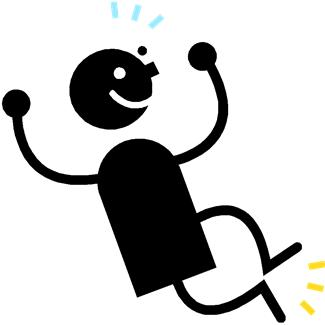 happy stick figure